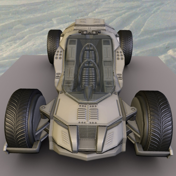 My Futuristic and Game-Ready Car (Download) | 3DHaupt