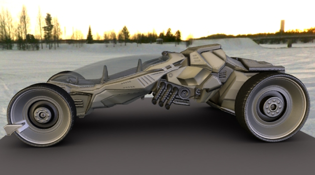 Futuristic Carfor blender 2.66a by DennisH2010 7