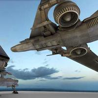 Futuristic combat jet