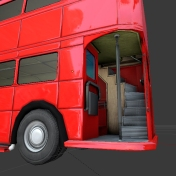 Routmaster bus by DennisH2010 made in Blender 2.66a _4