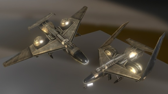 Futuristic combat jet on Sketchfab by DennisH2010
