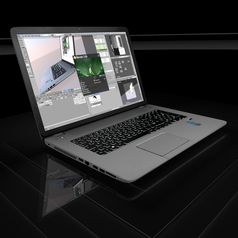 New_Laptop by Dennis Haupt Download on Blendswap Blender 268a 1
