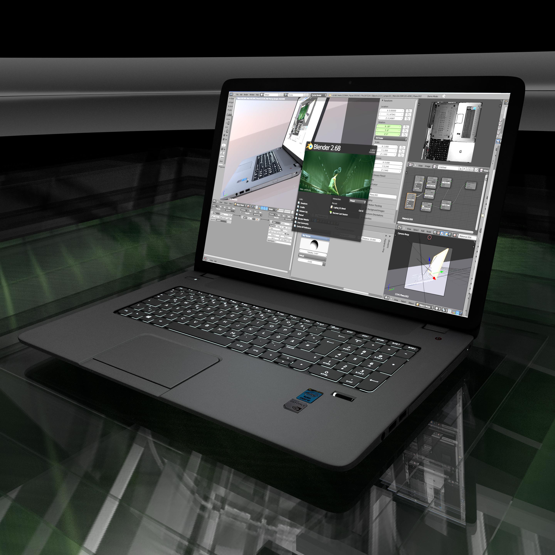 New_Laptop by Dennis Haupt Download on Blendswap Blender 268a (3)