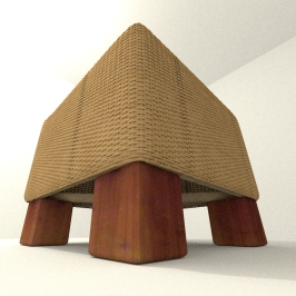 Stool basket by DennisH2010 download on blendswap Blender 268a_2
