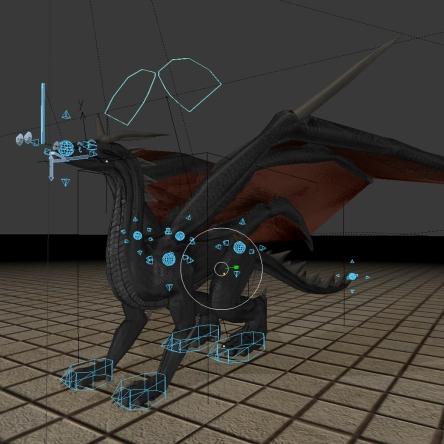 Dragon custom bone shapes by DennisH2010