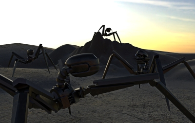 Gun Bot - cycles render scene 1