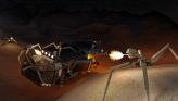 Gunbots attacking freighter