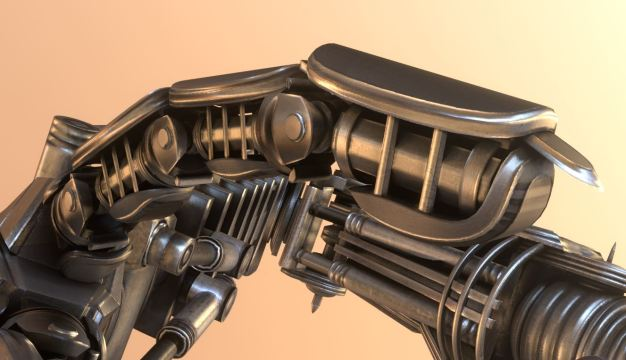 Roboter arms Blender-2.82a_Low-Poly-modeled-textured-rigged-and-animated-in-Blender-3d (3)