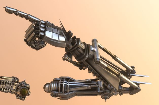 Roboter arms Blender-2.82a_Low-Poly-modeled-textured-rigged-and-animated-in-Blender-3d (5)
