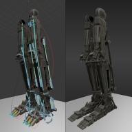 Roboter legs by DennisH2010 Download on Blendswap 01