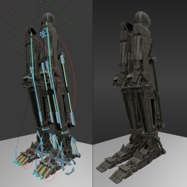 Roboter legs by DennisH2010 Download on Blendswap 01