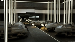Shuttle Station cycles render