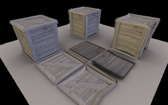 Destructible boxes for Blenders Game Engine