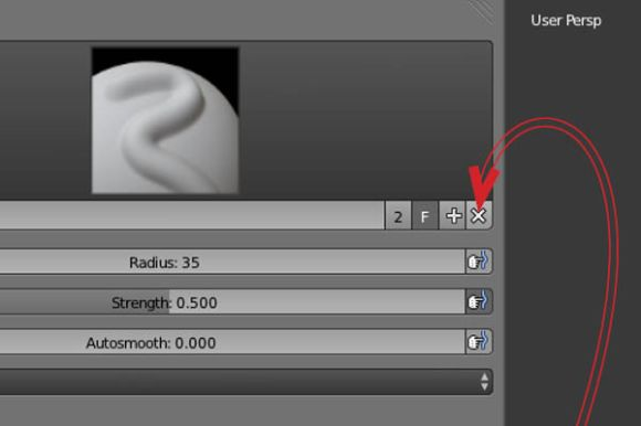 How to created, save and load in a self-made brush in Blender_12