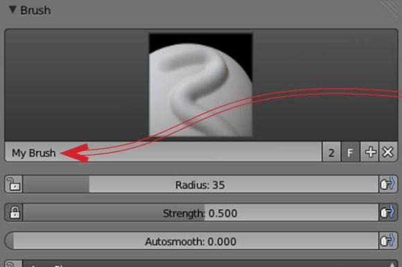 How to created, save and load in a self-made brush in Blender_14