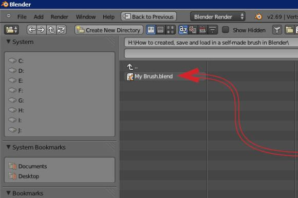 How to created, save and load in a self-made brush in Blender_32