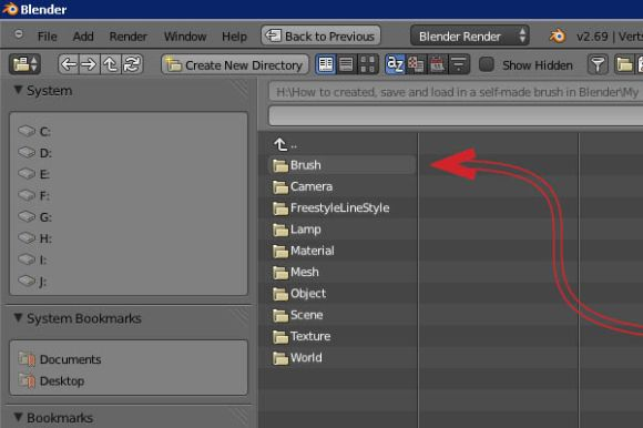How to created, save and load in a self-made brush in Blender_33