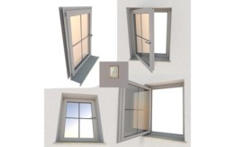 Low Poly Interior exterior window component for games on Sketchfab by DennisH2010