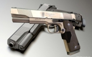 Low poly smith and wesson firearm for games