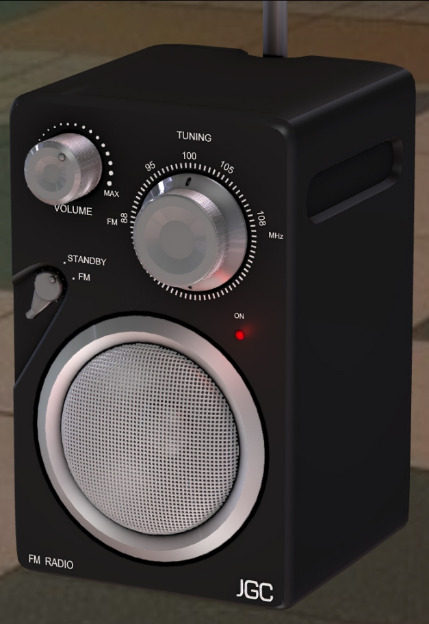 Radio rigged and animated