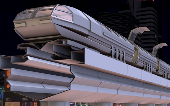superconductor train concept by DennisH2010