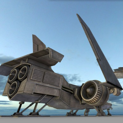 A futuristic combat jet