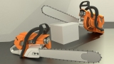 Blender cycles chainsaw by DennisH2010
