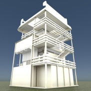 Tower-House Design Blender Game Engine (3)
