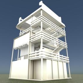 Tower-House Design Blender Game Engine (3)
