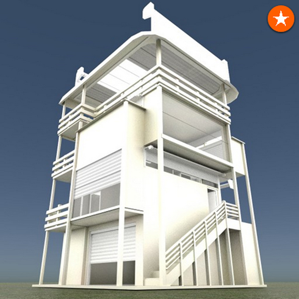 Tower-House Design Blender Game Engine