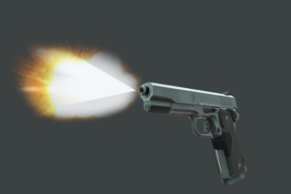 45 ACP Smith and Wesson Model (Animated) by DennisH2010