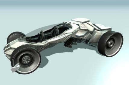 Futuristic car game ready