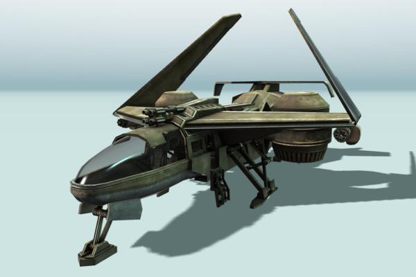 Futuristic combat jet Animated by DennisH2010