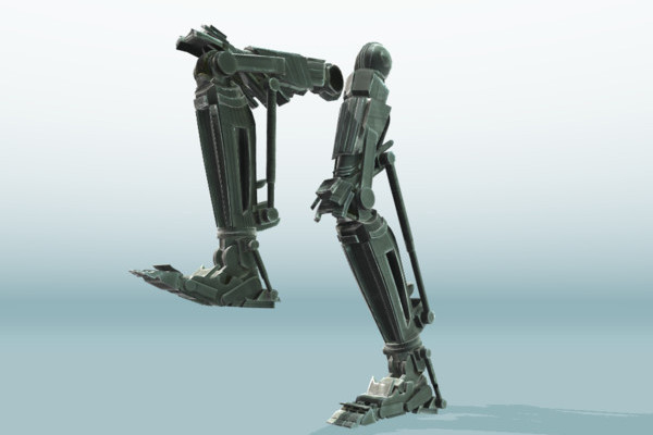 Hydraulic Rigged Robot Legs (Animated) by DennisH2010