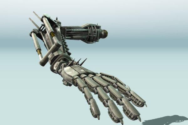 Rigged Robot Arm Animated by DennisH2010