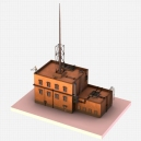 Futuristic ghetto building modeled by DennisH2010 in Blender 2.68
