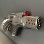 Futuristic Weapon Concept High-poly made in Blender 2.70 model by DennisH2010