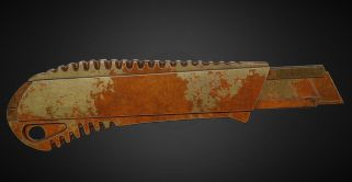 Box Cutter Old and Rusty Version