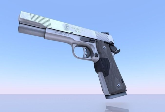 3d-model-gun-45-acp-smith-and-wesson-3