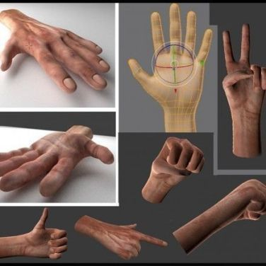 My Rigged and Animated 3d Hands (Downloads) | 3DHaupt