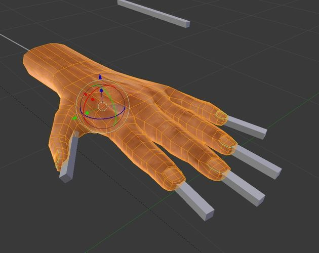 Rigged 3d Hands