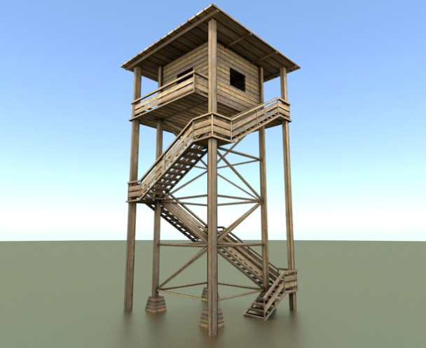 3d-models-exterior-landmark-watch-tower-made-of-wood-1