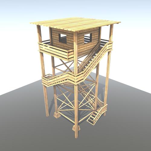 3d-models-exterior-landmark-watch-tower-made-of-wood-2
