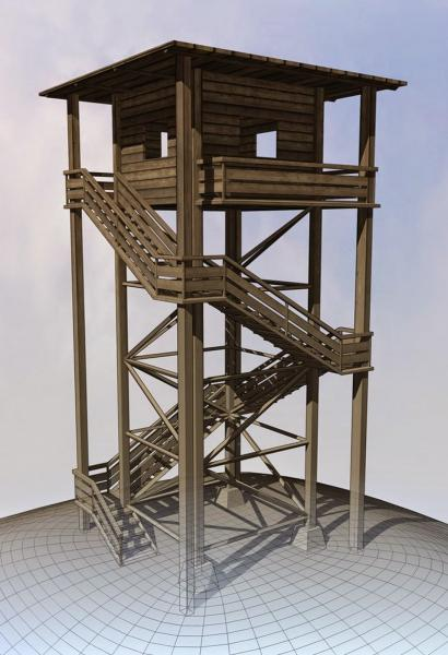 3d-models-exterior-landmark-watch-tower-made-of-wood-5