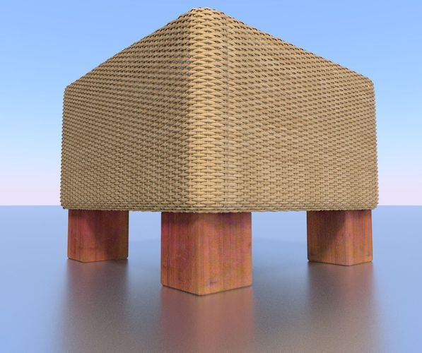 basket-stool high-poly