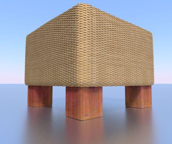 basket-stool high-poly
