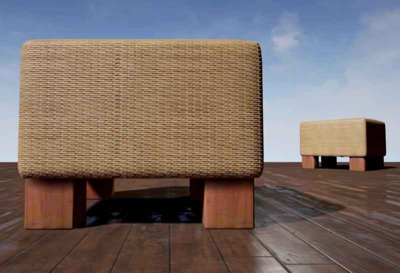 basket-stool low-poly