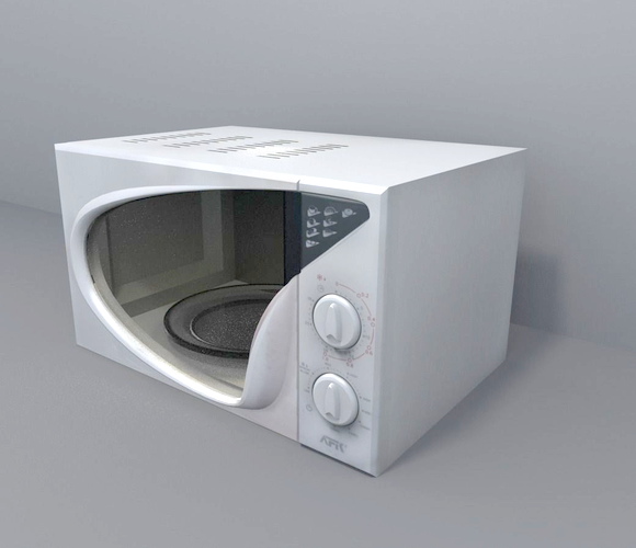 interior kitchen microwave