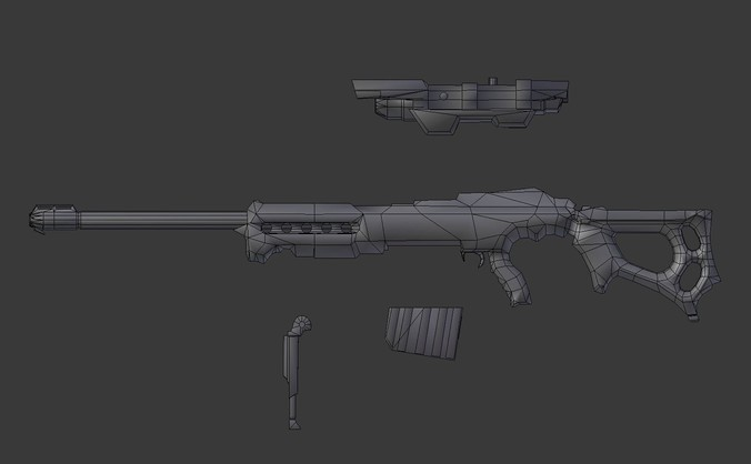 ksr sniper rifle 3d model (New)