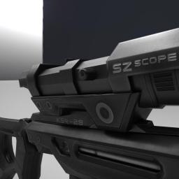 ksr sniper rifle 3d model (New)
